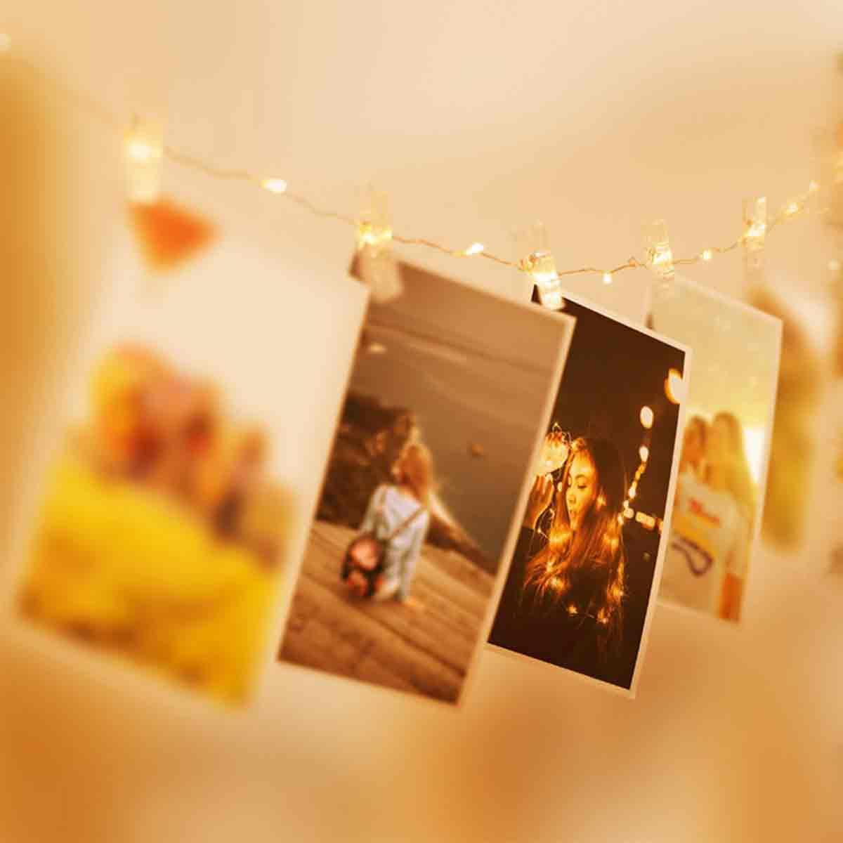 decoracion con fotos romatico