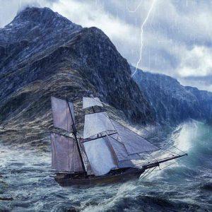 tormentas en el mar