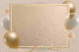 fondos dorados con globos