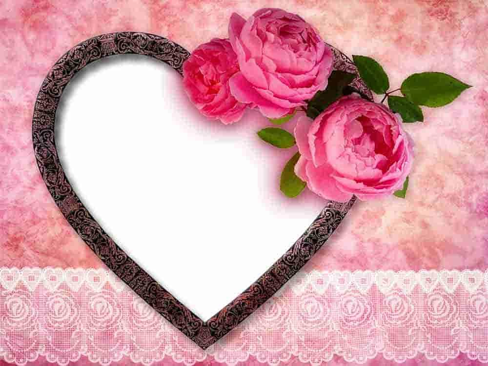 marco para fotos con corazones