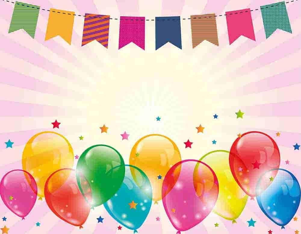 postales con globos para cumpleaños