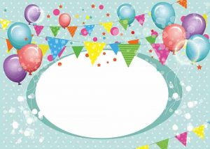 tarjetas cumpleaños con globos