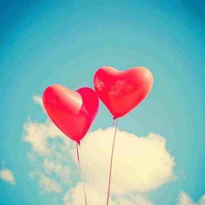 globos de corazones bonitos