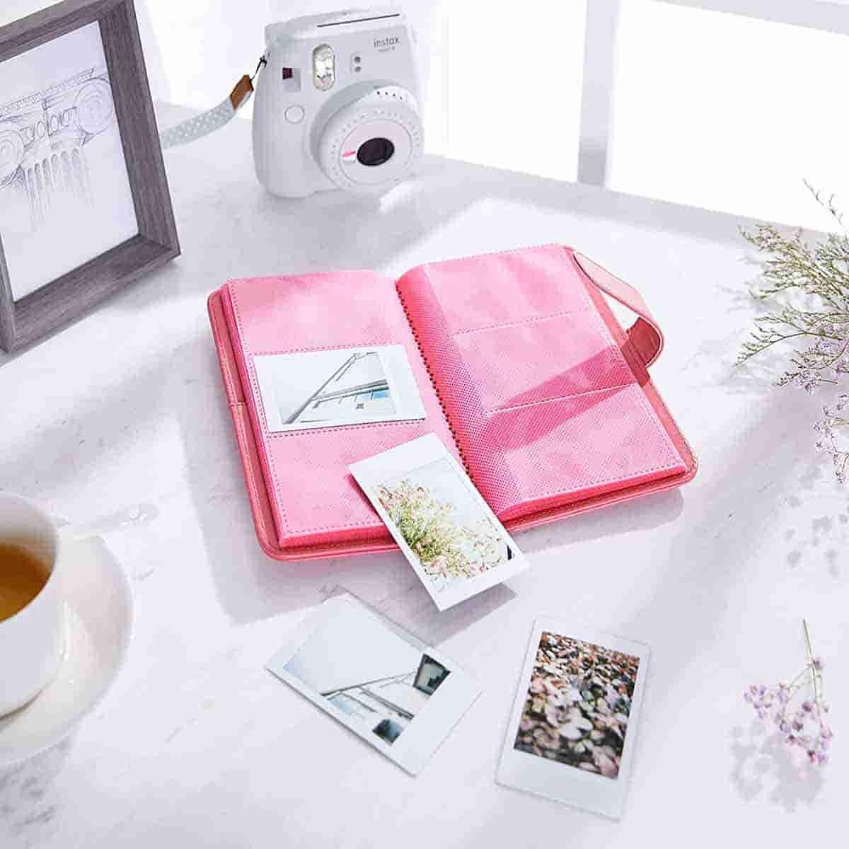 albumes de fotos color rosa