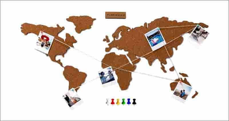 mapa mundi para colgar fotos